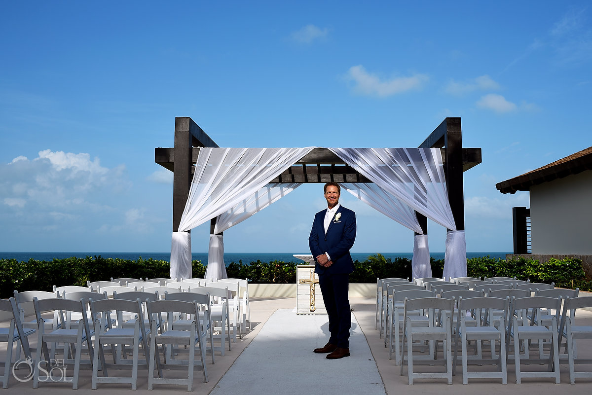 Secrets Playa Mujeres Gazebo wedding set up Cancun Mexico