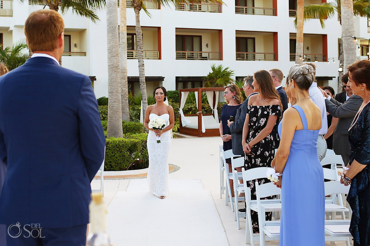 Bride entrance Secrets Playa Mujeres Wedding Cancun Mexico