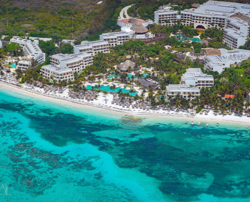 Secrets Akumal Aerial photograph Riviera Maya Tulum Mexico