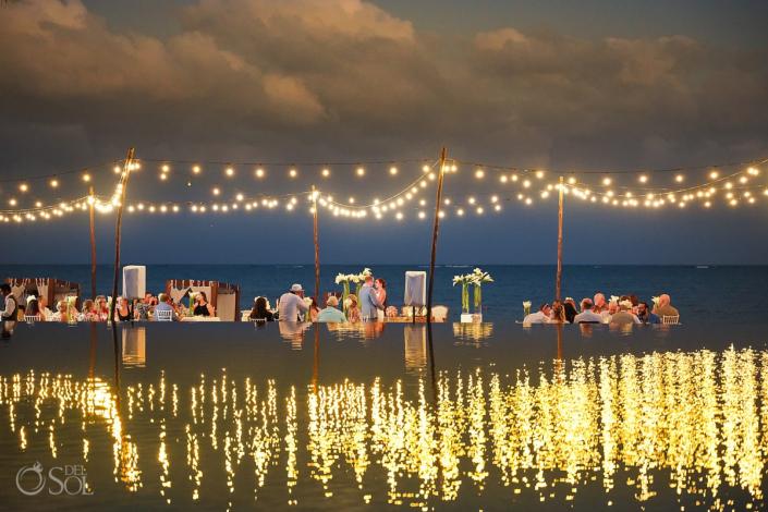 Dreams Riviera Cancun rooftop terrace wedding reception