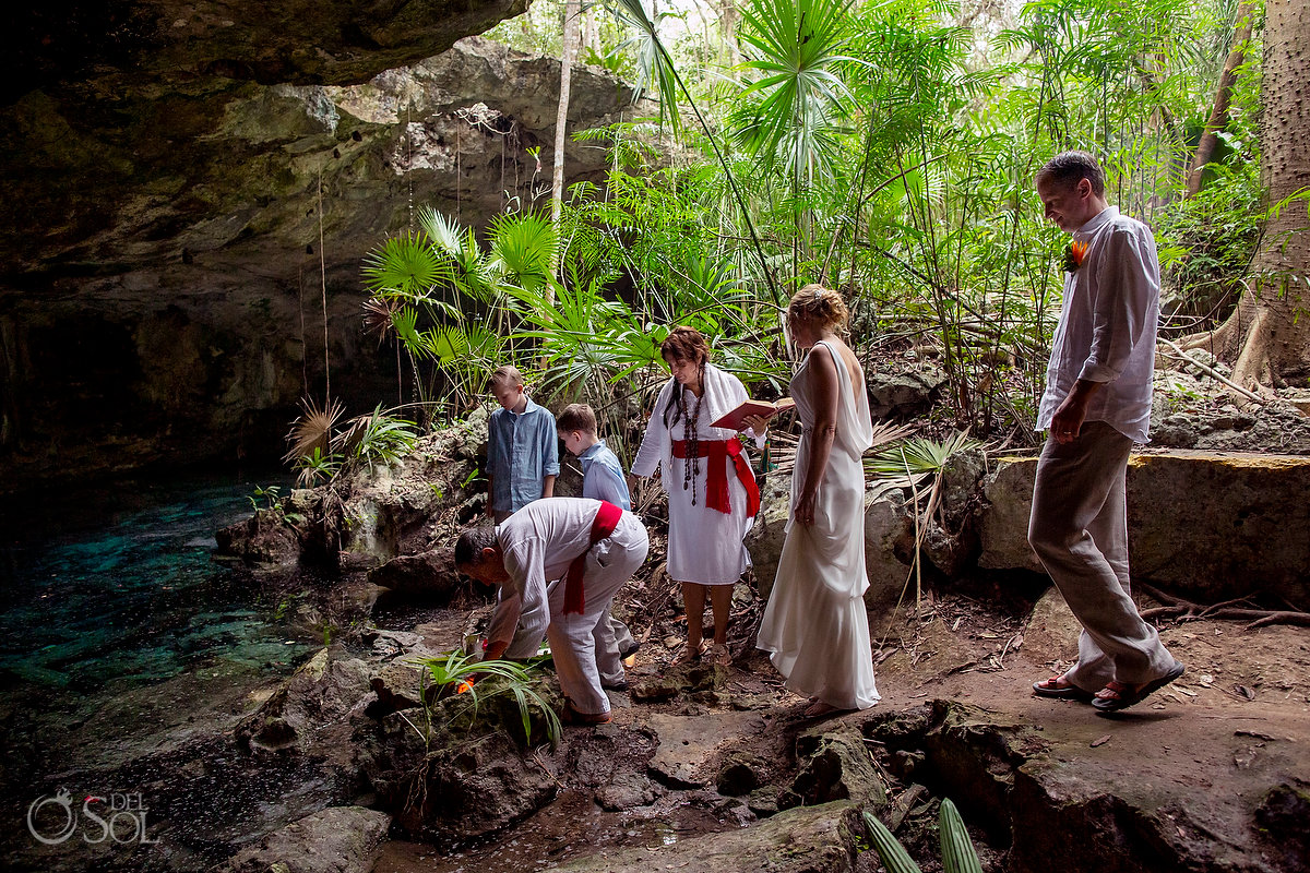 Family Vow renewal Tulum Cenote Riviera Maya Mexico