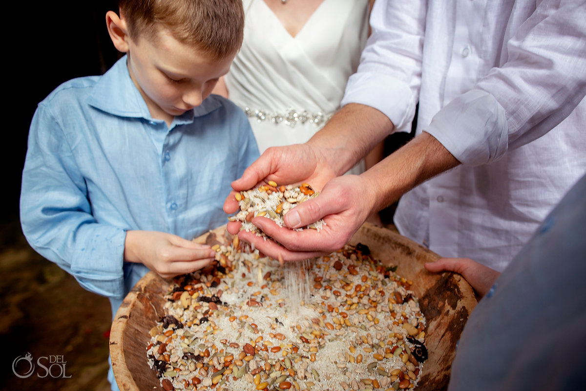 Spiritual Unity Ceremony Family Vow renewal Tulum Cenote Riviera Maya Mexico