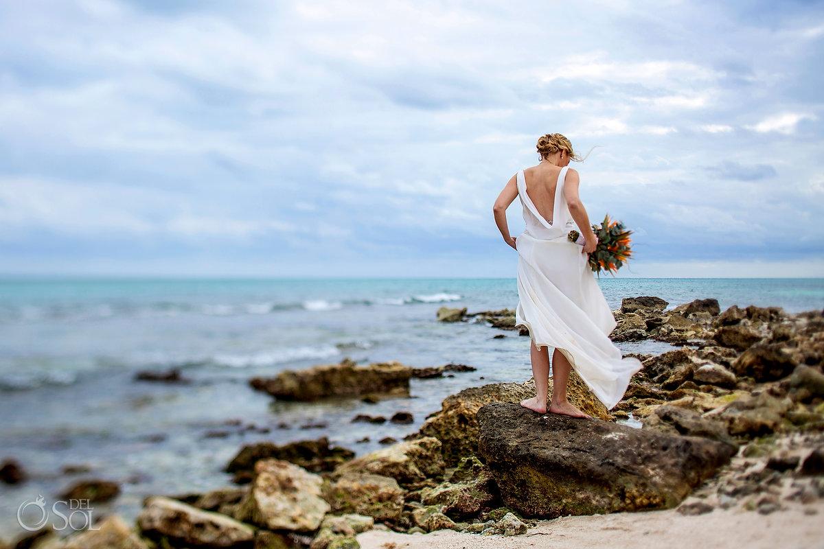 Bride portrait Dreams Tulum Beach mexico