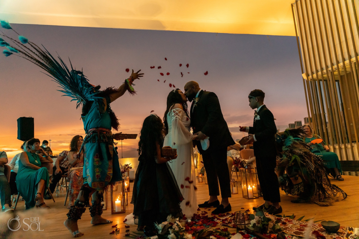 Dreams Vista Wedding Pre Hispanic ceremony