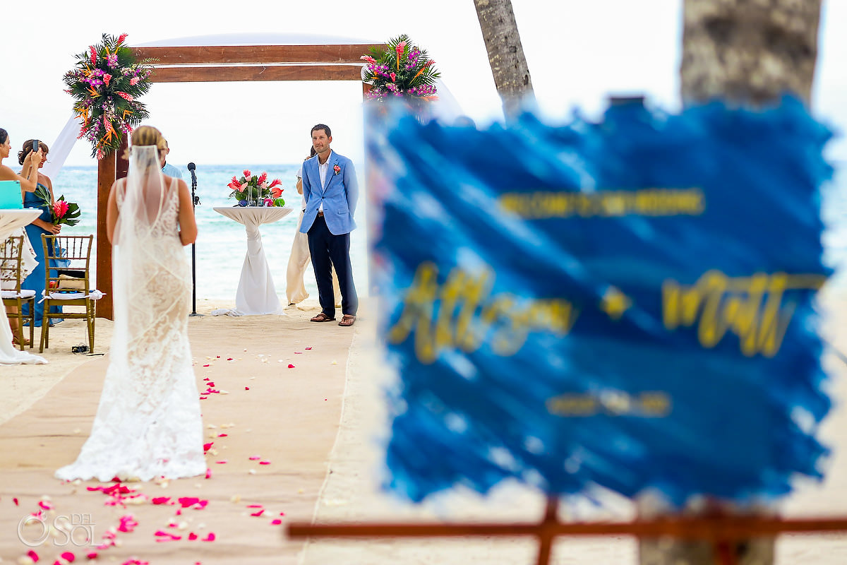 Bride entrance Dreams Tulum Central Beach