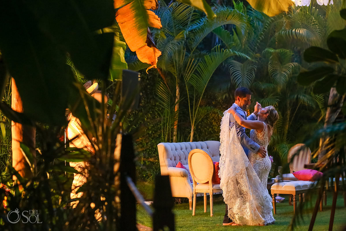 First Dance Dreams Tulum Secret Garden Wedding Reception