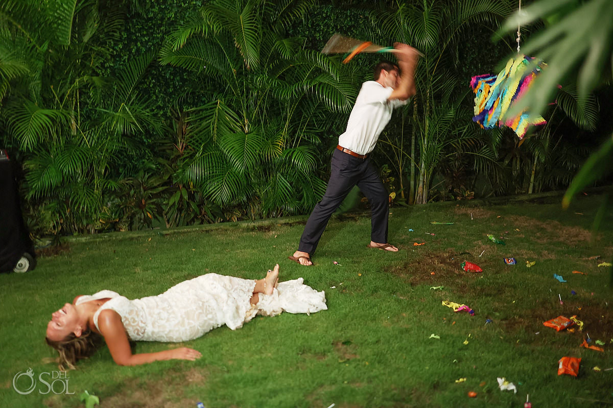 Wedding reception entertainment Piñata Dreams Tulum Secret Garden