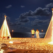Dreams Natura Bonfire Welcome Party Rehearsal Dinner Riviera Cancun Mexico