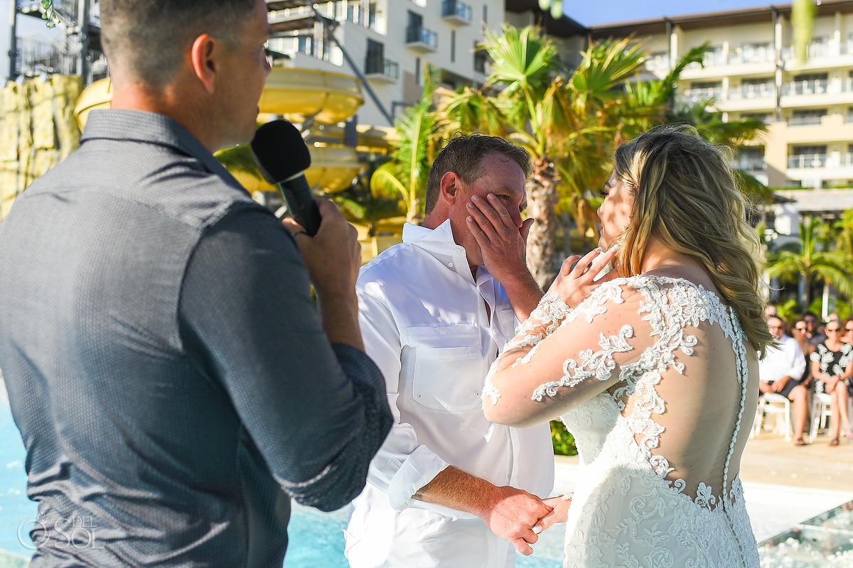 Dreams Natura Wedding Ceremony Infinity Pool Riviera Cancun Mexico