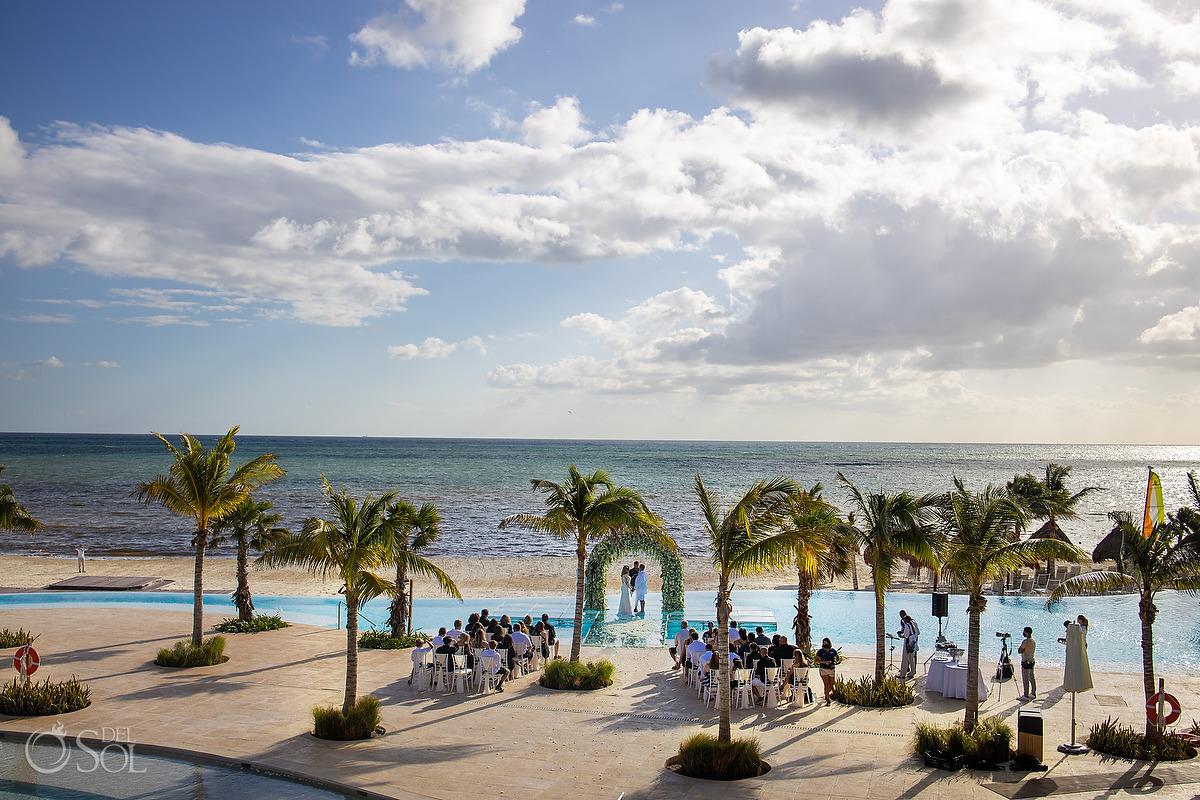 Dreams Natura Wedding best venue Infinity Pool Riviera Cancun Mexico