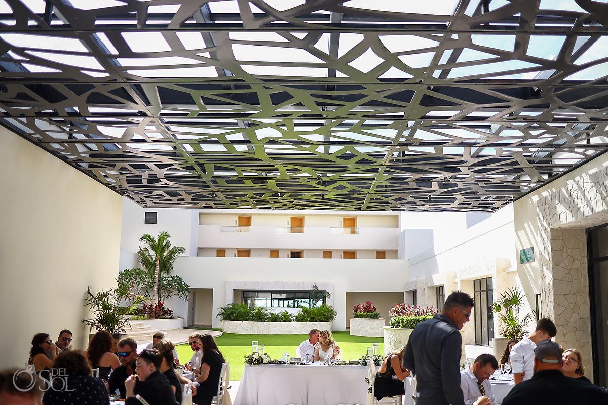 Dreams Natura Theatre Terrace Wedding Reception Riviera Cancun Mexico