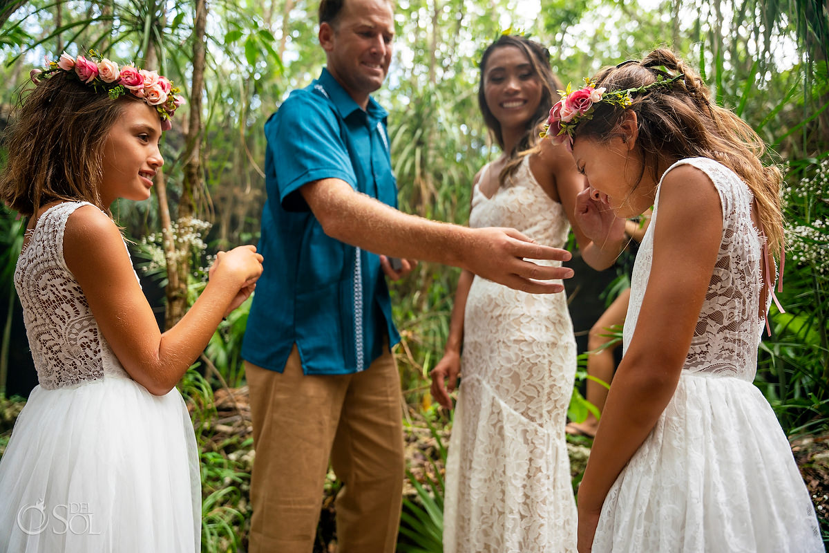 Mayan vow renewal ceremony family experience Tulum Mexico