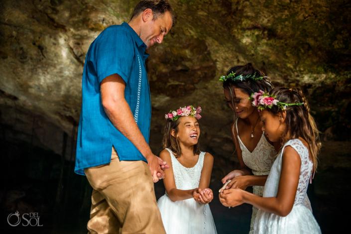 Water unity ceremony 10 year anniversary vow renewal Playa del Carmen Mexico