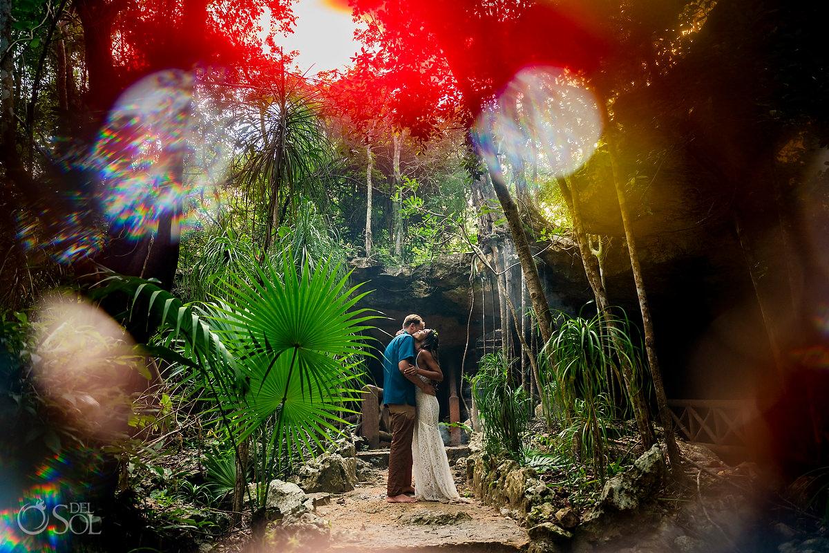 Mayan Vow Renewal 10 year anniversary cenote ceremony Riviera Maya Mexico