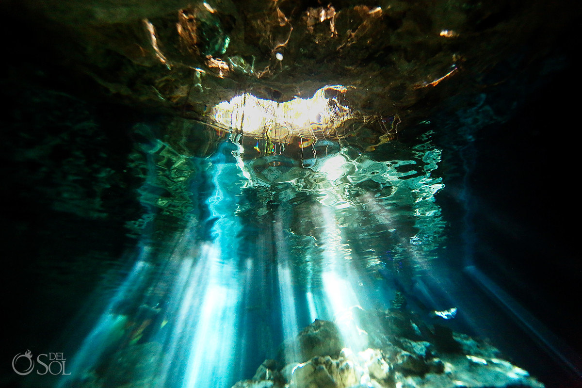 healing art Underwater Photography heart shaped cave Tulum Mexico