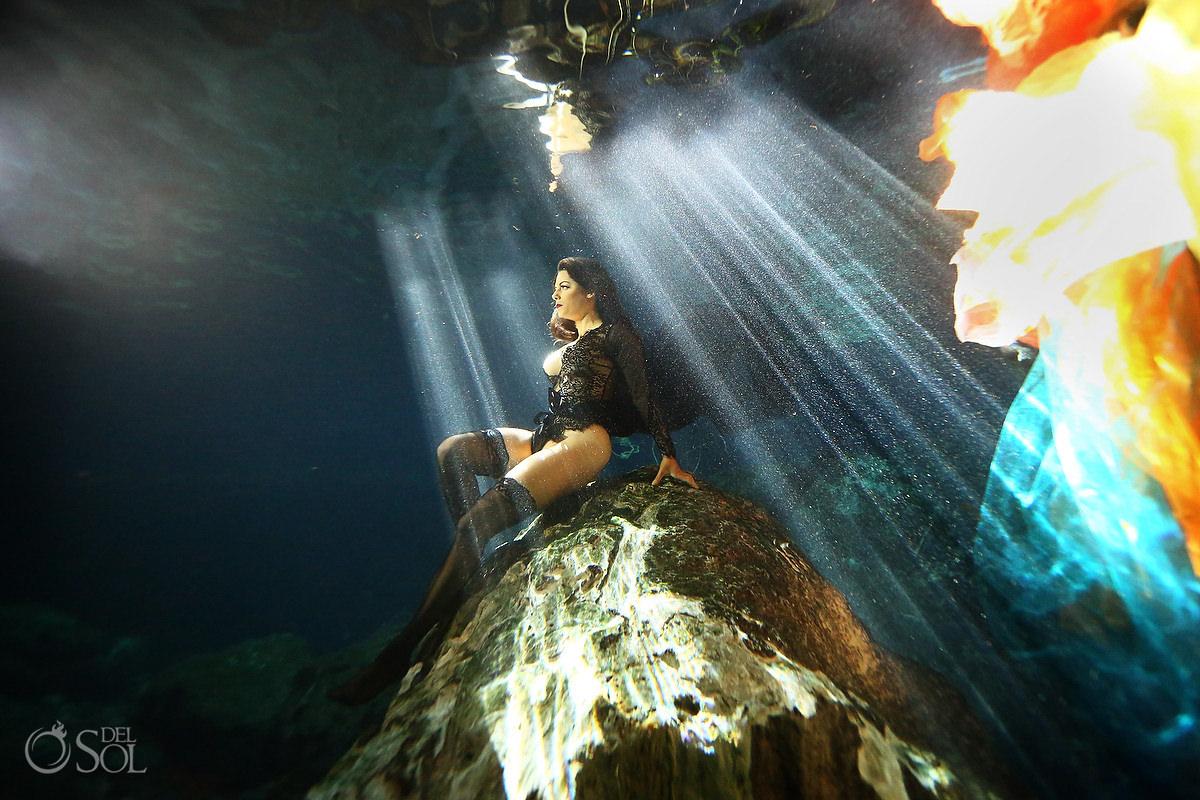 Empowering photoshoot ideas for women Healing Art Underwater Photography Riviera Maya mexico