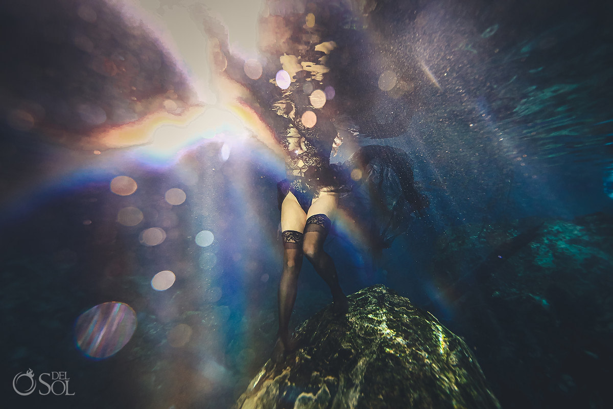 Healing Art Underwater Photography sexy empowering photoshoot for women Tulum Mexico