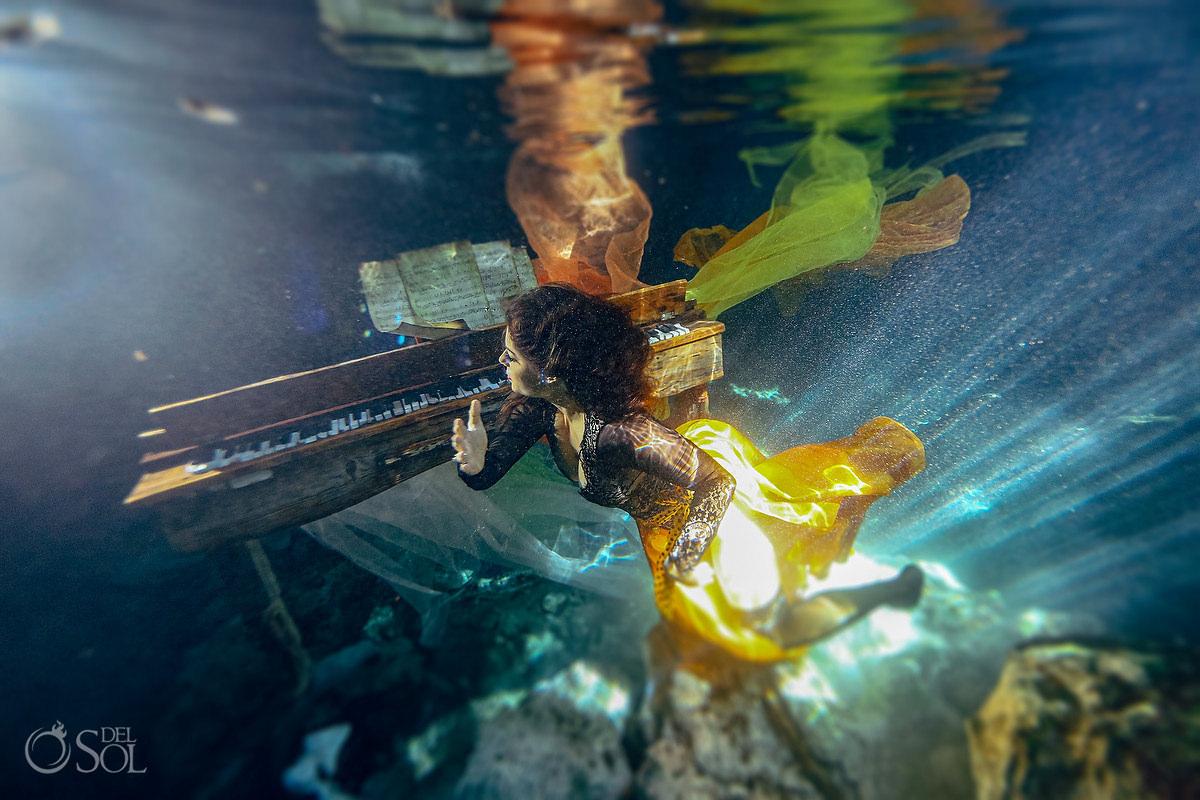 creative fine art underwater photographer Tulum Mexico