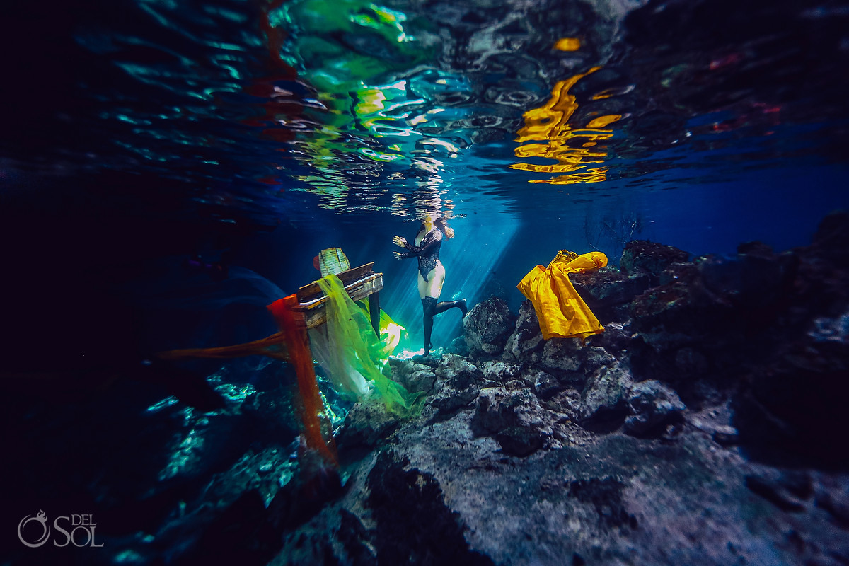 Healing Art Underwater Photography follow your dream Tulum Mexico