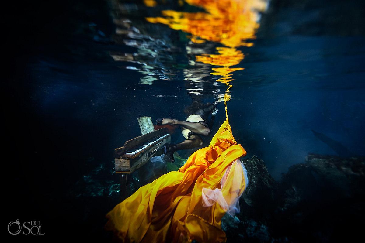 Healing Art Underwater Photography cenote trash the dress ideas for single women