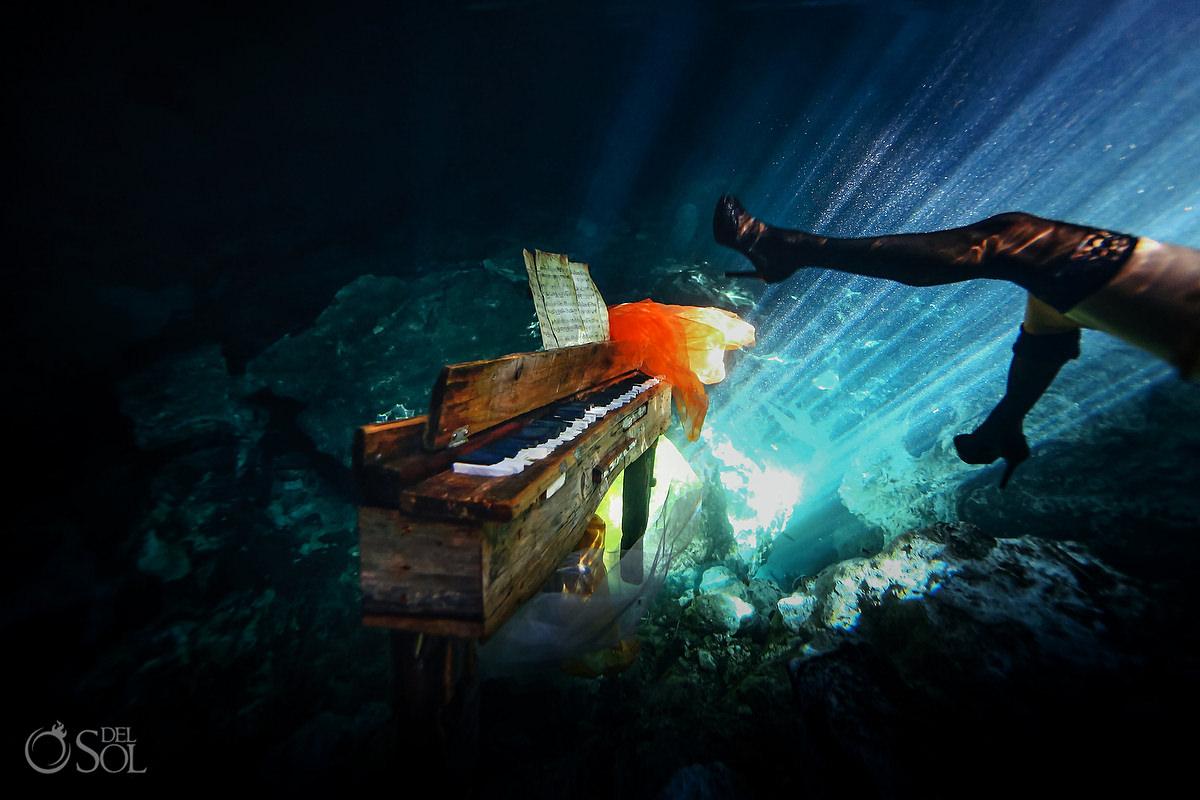 Healing Art Underwater Photography stockings and high heels