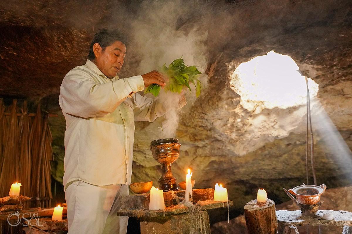 Mexico cenote Proposal spiritual Mayan purification ceremony shaman
