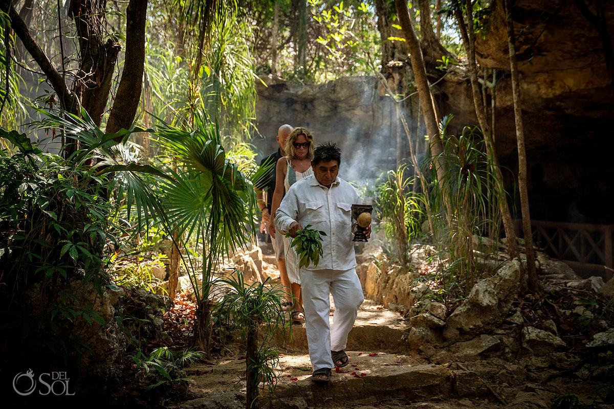 Surprise wedding proposal in the Mexican Jungle with Shaman