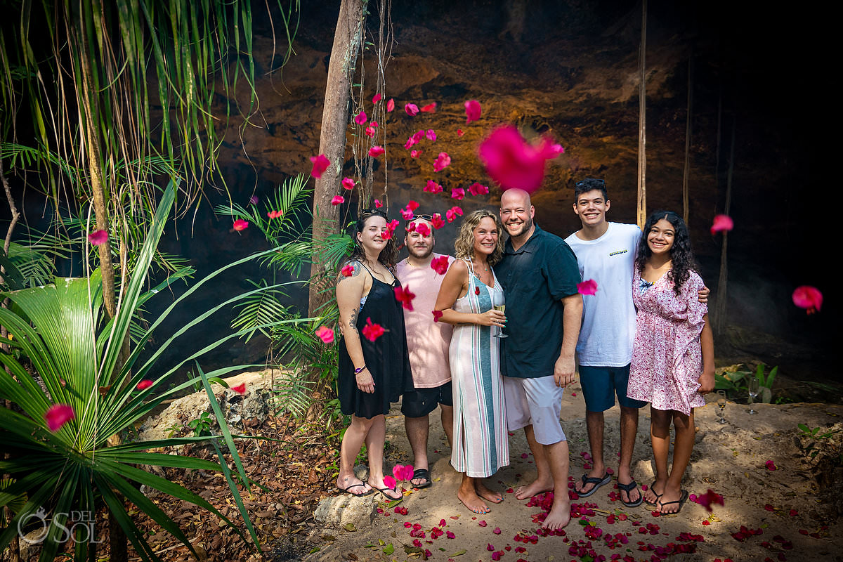 Blended family proposal Tulum Mexico