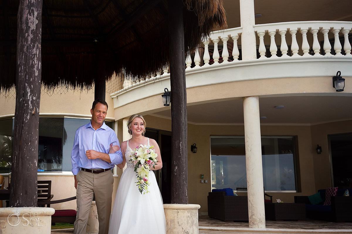 Bride Entrance Tankah Tulum Micro Wedding at Villa Escapar