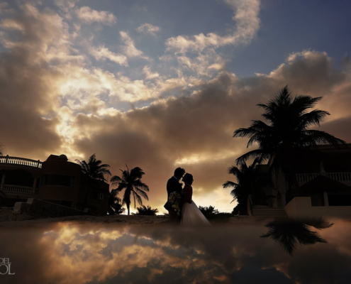 Tankah Tulum Micro Wedding Villa Escapar Sunset portrait photography