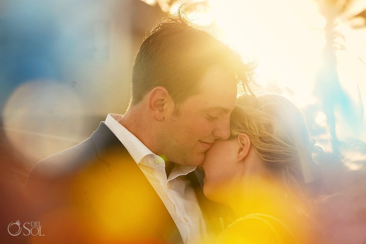 wedding portrait golden hour Tankah mexico