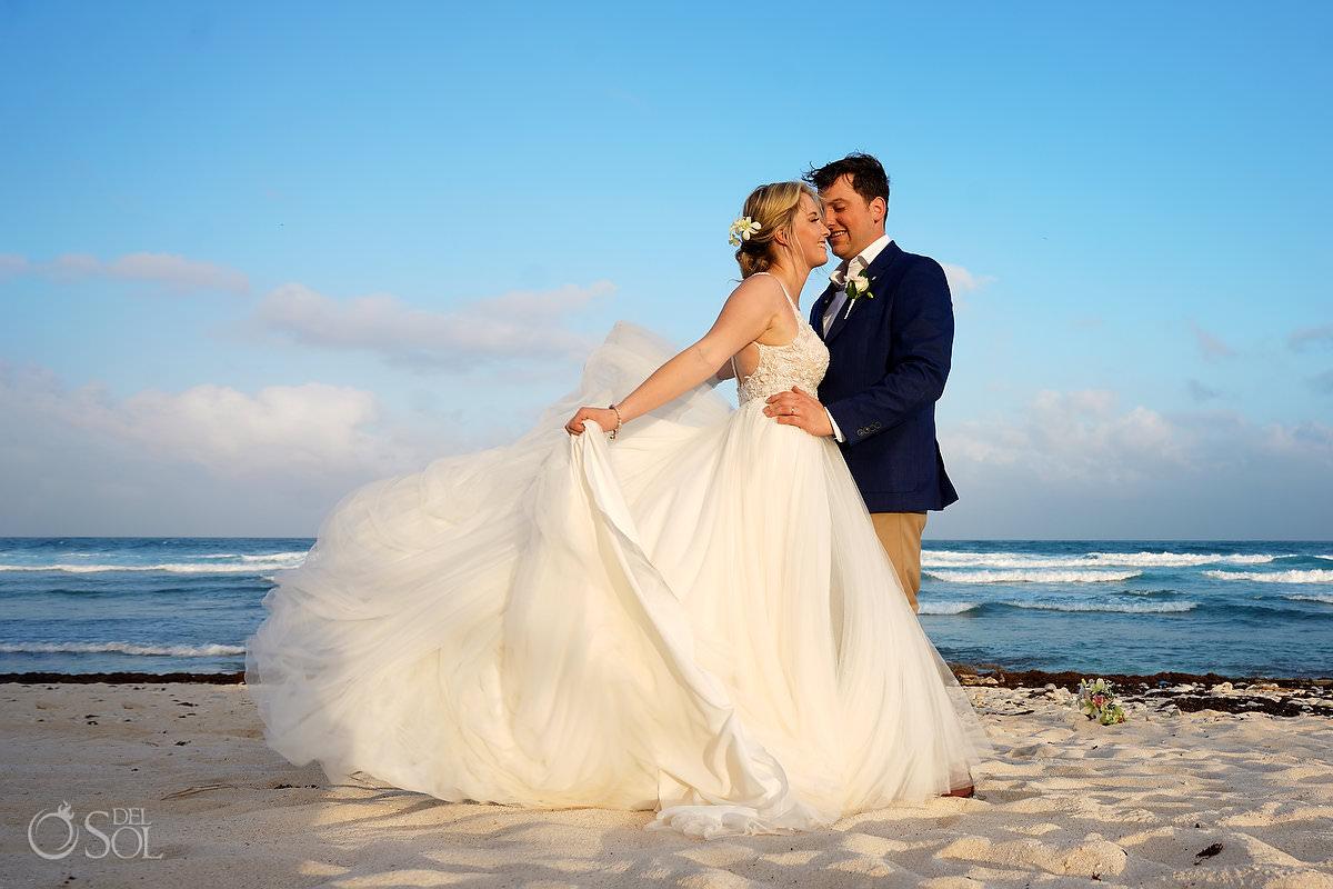 perfect wedding dress for destination beach wedding