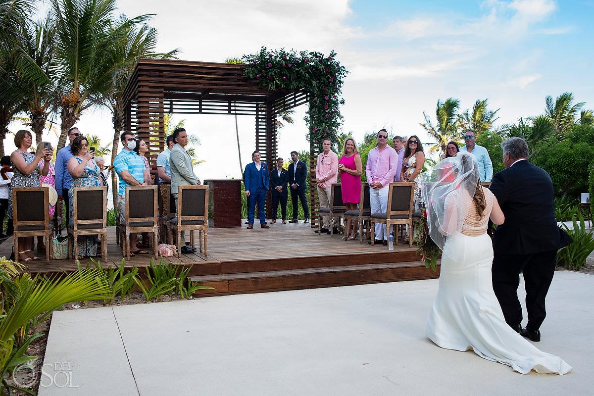 Unico Riviera Maya Wedding bride entrance