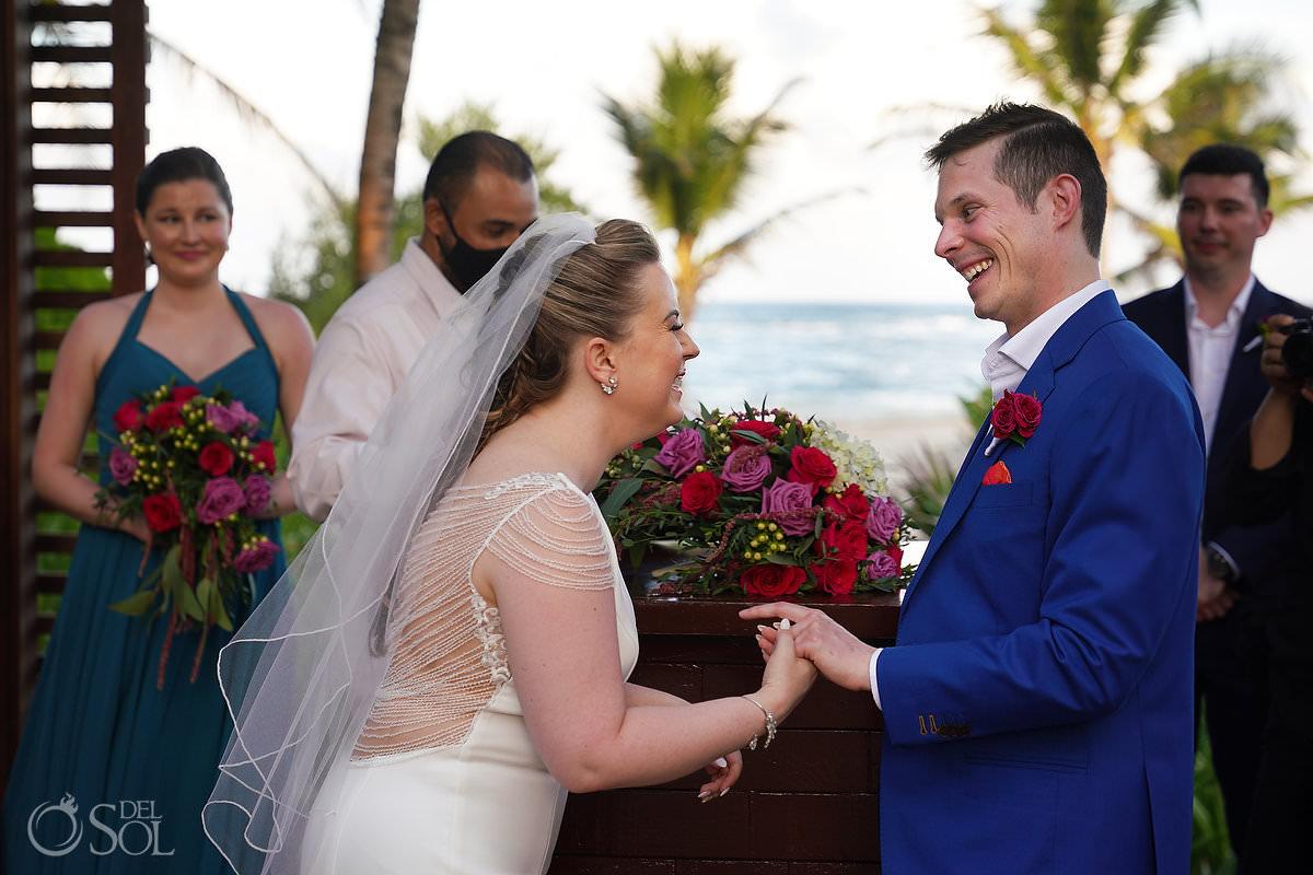 Ring exchange Unico Riviera Maya Wedding