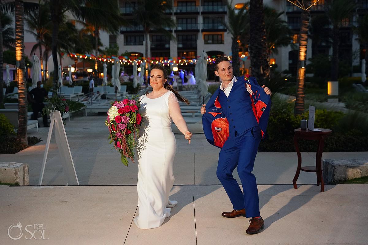 Unico Riviera Maya Wedding Reception entrance Costerra Terrace
