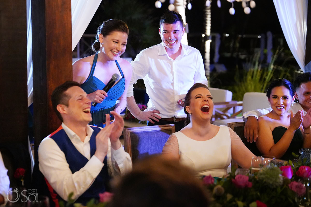 toasts and speeches Unico Riviera Maya Wedding Reception Costerra Terrace