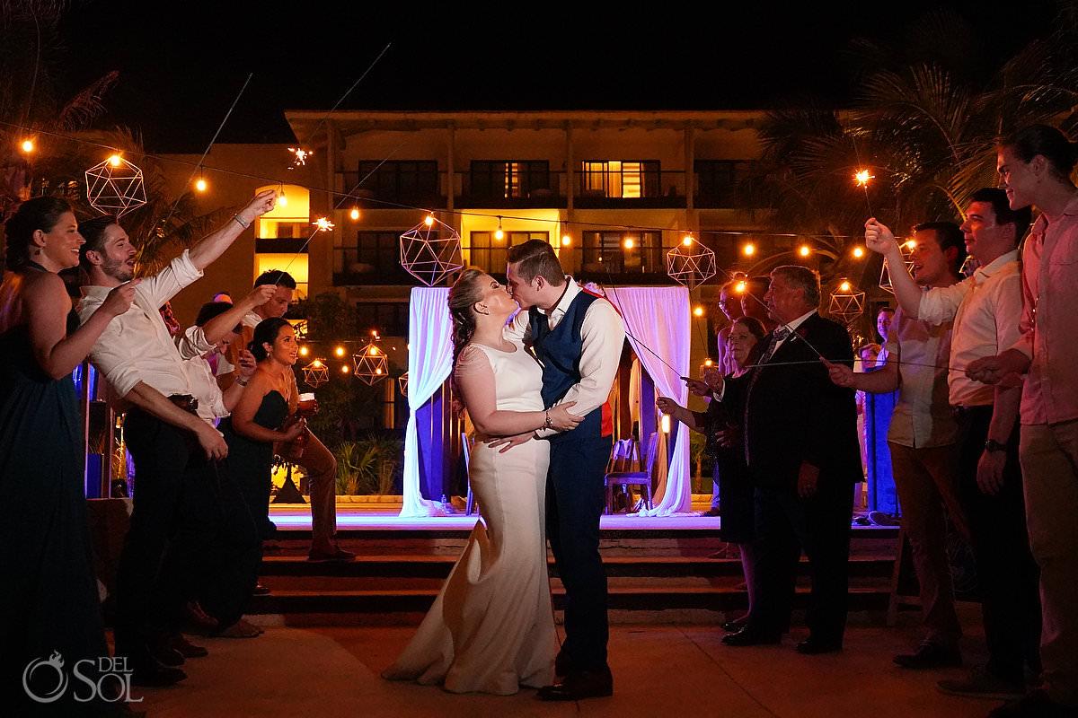 sparker exit Unico Riviera Maya Wedding Reception Costerra Terrace