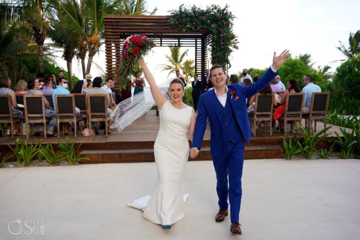 Just Married Unico Riviera Maya Weddings Gazebo
